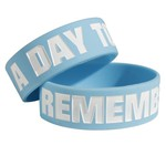A Day To Remember Logo Baby Blue Bracelet