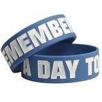 A Day To Remember Logo Blue Bracelet