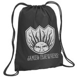 Jamies Elsewhere Logo Drawstring Backpack