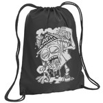 Homesick (Black) Drawstring Backpack