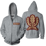 Oak Leaf Zip Up Hoodie