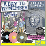 Old Record Vinyl, Shirt and Patch Package