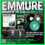 Speaker Of The Dead Vinyl, Poster, Basketball Jersey and Patch Package