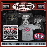 REV CD, Sticker & Shirt Package