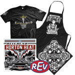 REV CD, Apron, Bandana, Sticker and Shirt Package