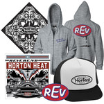 REV CD, Trucker Hat, Zip-Up, Bandana & Sticker Package