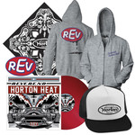 REV Vinyl, Trucker Hat, Zip-Up, Bandana, and Sticker Package