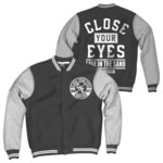 Close Your Eyes - Line In The Sand Vinyl And Varsity Jacket