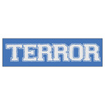 Terror Logo (Blue) Sticker