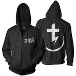 Tear Out The Heart Bolt (Black) Zip Up Hoodie