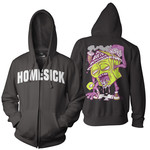 Homesick (Black) Zip Up Hoodie