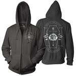 Coffin (Black) Zip Up Hoodie