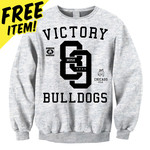 Bulldogs (Ash Grey) Crew Neck Sweatshirt