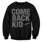 Jump (Black on Black) Crew Neck Sweatshirt