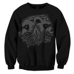 Skull (Black on Black) Crew Neck Sweatshirt
