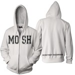 Victory Records - MOSH (White Zip Up Hoodie)