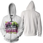 Grizzly (White Zip Up Hoodie) Zip Up Hoodie