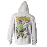 Skate Or Die White Zip Up Hoodie