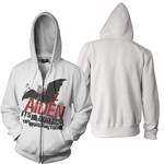 Bat WhiteHoodie Zip Up Hoodie