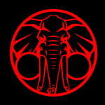 Elephant(Black And Red) Tank Top
