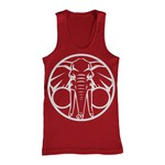Elephant (Red) Tank Top