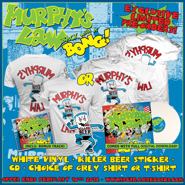 Murphys Law - Back With A Bong! CD, Vinyl, Sticker and Shirt