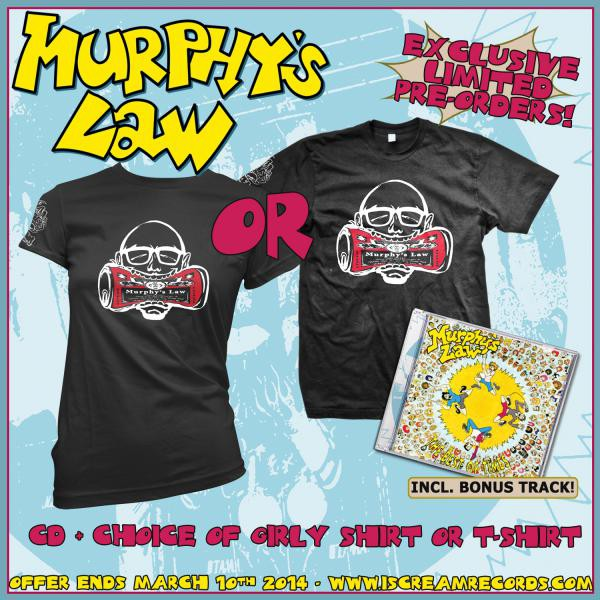 Murphys Law - Best Of Times Shirt and CD