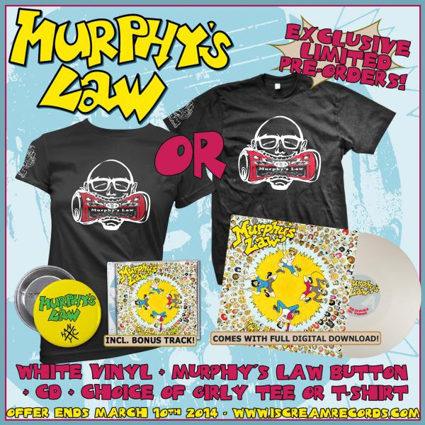 Murphys Law - Best Of Times CD, Vinyl, Button and Shirt