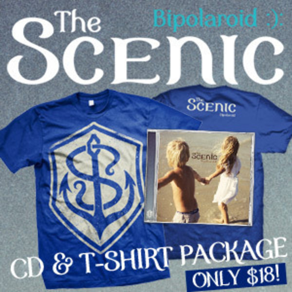 The Scenic - Bipolaroid CD And TShirt