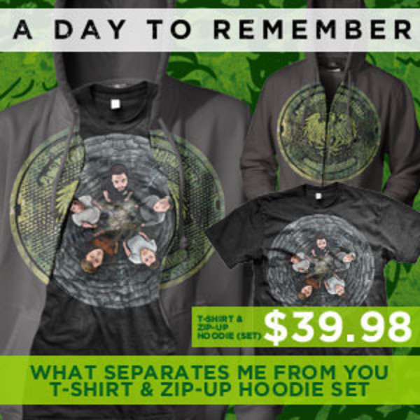 A Day To Remember - ZipUp Hoodie And T-Shirt Set
