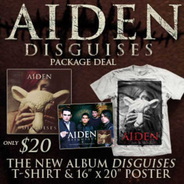 Aiden - Disguises CD and TShirt