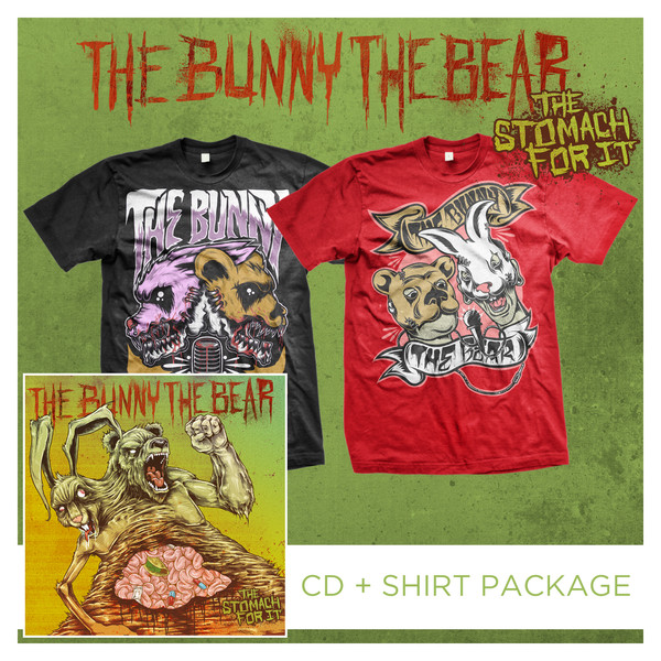 The Bunny The Bear - The Stomach For It CD + Shirt