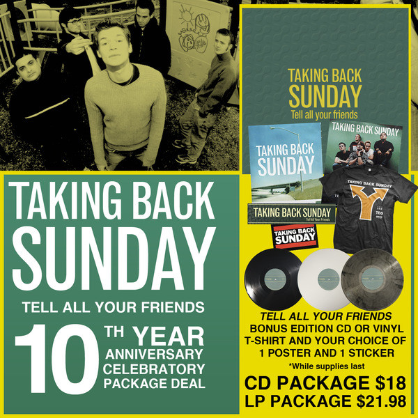 Taking Back Sunday - Tell All Your Friends 10 Year Anniversary