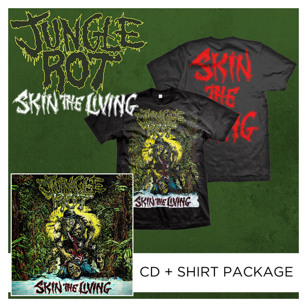 Jungle Rot - Skin The Living CD + Shirt