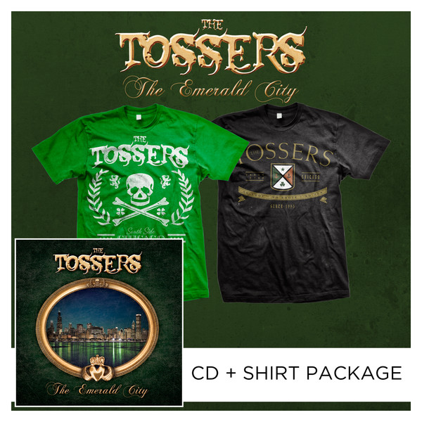 The Tossers - The Emerald City CD + Shirt