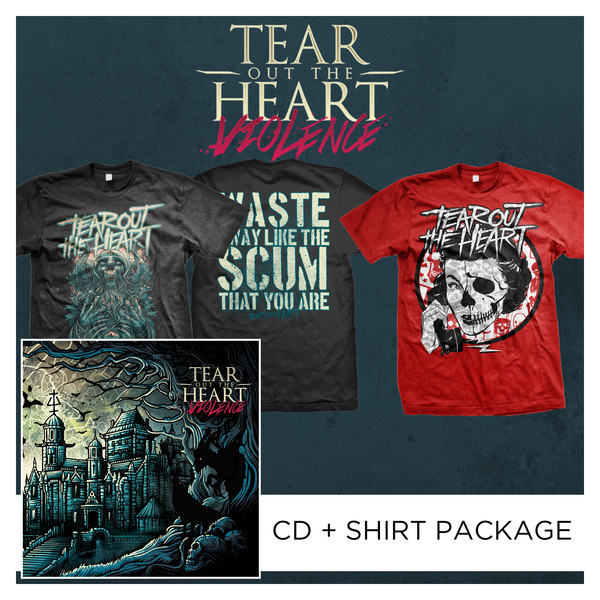Tear Out The Heart - Violence CD + Shirt