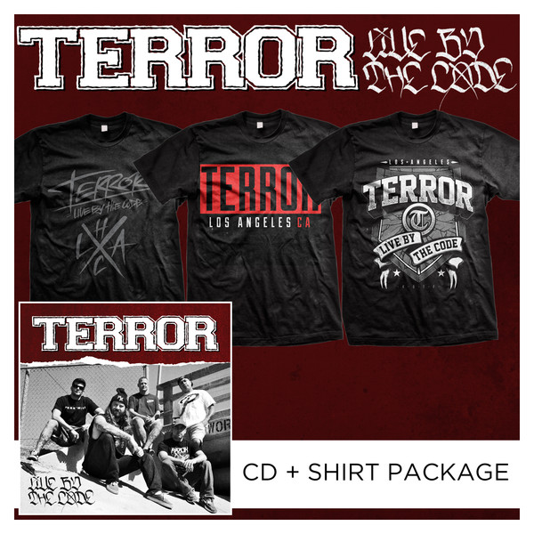 Terror - Live By The Code CD + Shirt