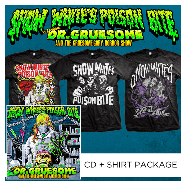Snow White's Poison Bite - Featuring Dr. Gruesome And The Gruesome Gory Horror Show CD + Shirt