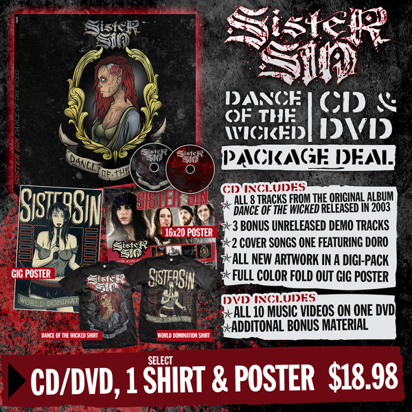 Sister Sin - CD, T-Shirt and Poster