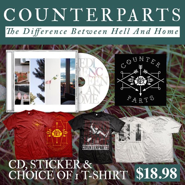 Counterparts - CD, Sticker And Choice Of T-Shirt