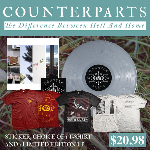 Counterparts - Vinyl, Sticker And Choice Of T-Shirt