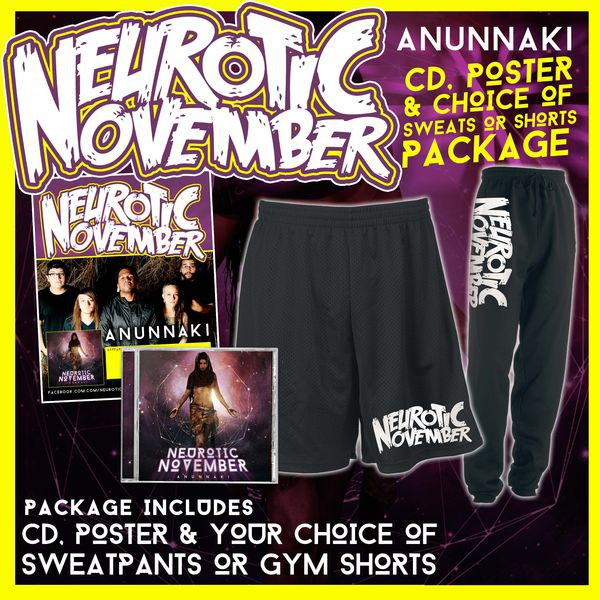 Neurotic November - Anunnaki CD, Poster And Choice Of Sweatpants Or Gym Shorts