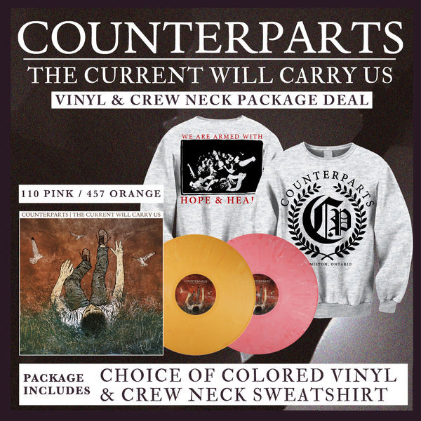 Counterparts - The Current Will Carry Us Vinyl and Crew Neck