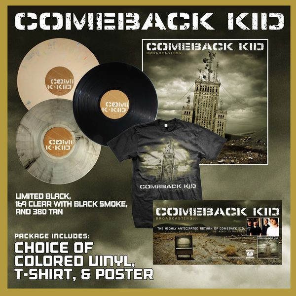 Comeback Kid - Broadcasting... Vinyl, T-Shirt, and Poster