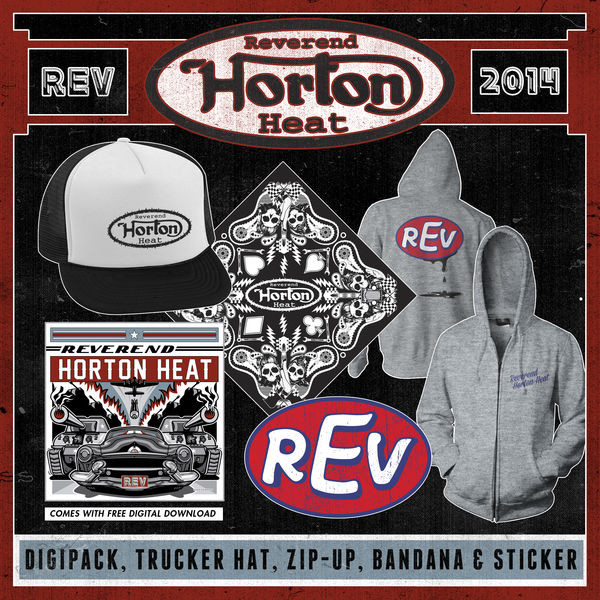 Reverend Horton Heat - REV CD, Trucker Hat, Zip-Up, Bandana & Sticker