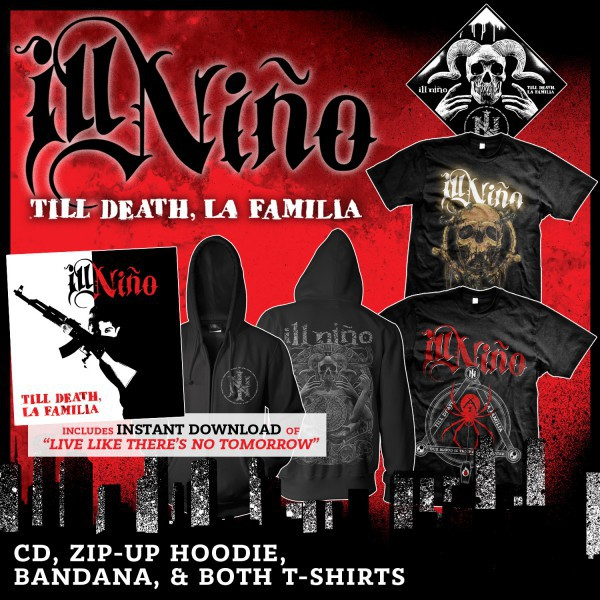 Ill Nino - CD, Zip-Up Hoodie, Bandana and Both T-Shirts