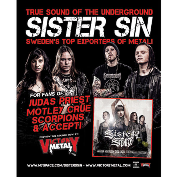 Sister Sin - True Sound Of The Underground Poster
