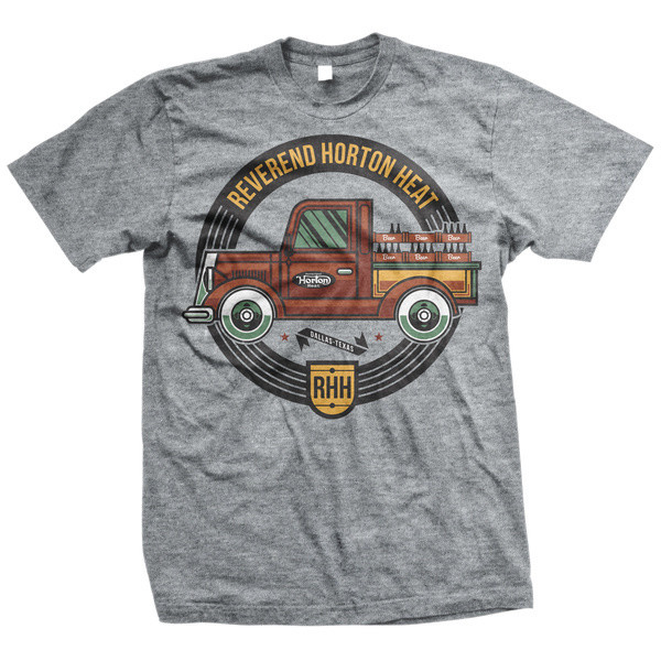 Reverend Horton Heat - Beer Truck (Medium Heather Grey)