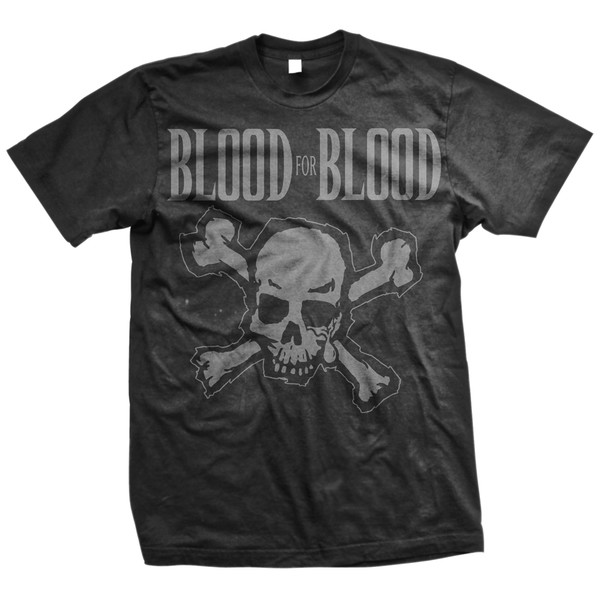 Blood For Blood - Skull (Black on Black)