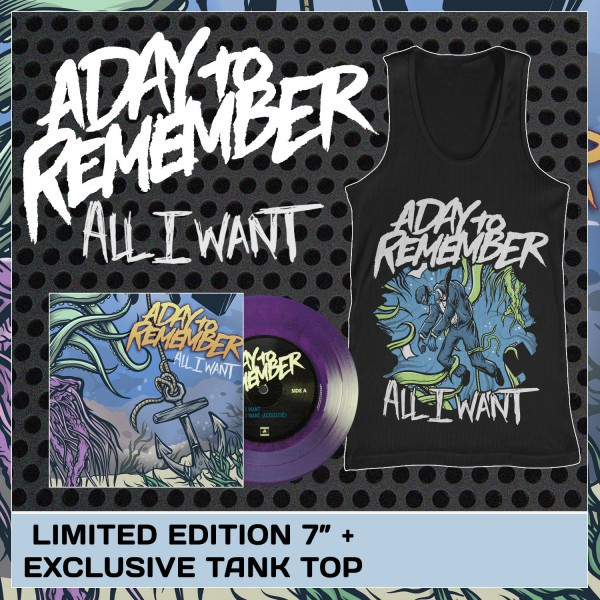 A Day To Remember - All I Want Vinyl and Tank Top